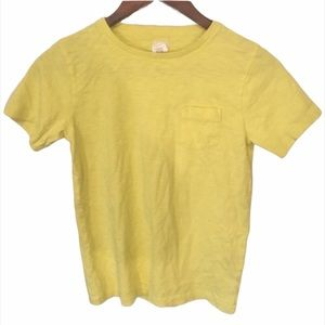 Kid's Crewcuts Yellow T-shirt with Front Pocket